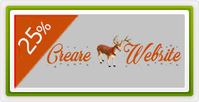25% discount Creare Website - Oferta Craciun