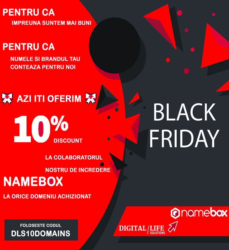 10% discount Namebox.ro