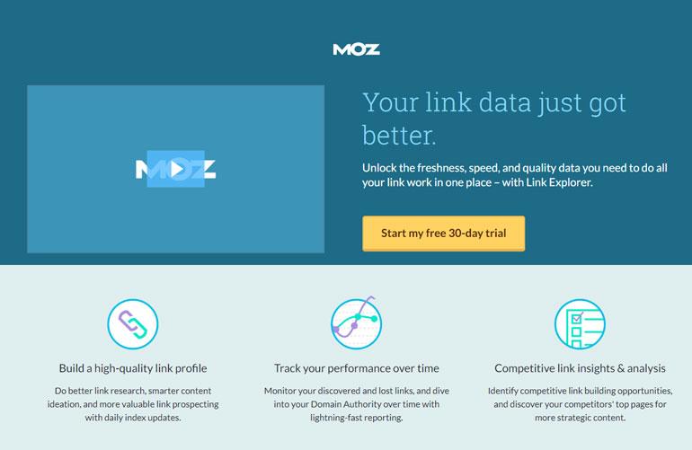 Landing Page Moz